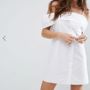 White Lightweight Button Down Summer Dress